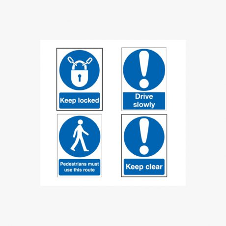 Access and Pedestrian Protection Signs