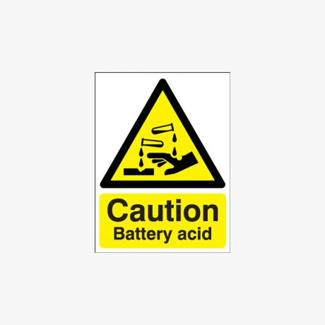 Acid and Battery Acid Signs
