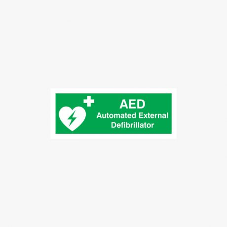 Aed Automated External Signs Self Adhesive 250x100mm
