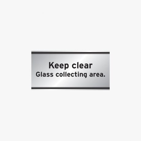 Aluminium 200x400mm Keep Clear Glass Collecting Area Signs