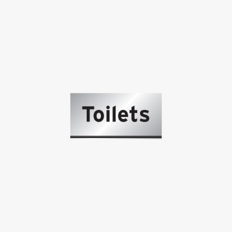 Aluminium 200x400mm Toilets Signs