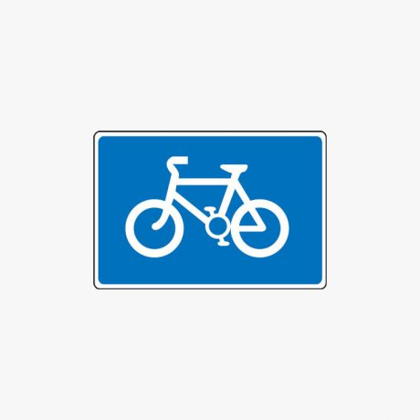 Aluminium 375X550mm Cycle Route Class 2 Reflective Post Fitting Signs