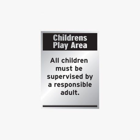 Aluminium 400x300mm Childrens Play Area All Children Signs