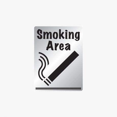 Aluminium 400x300mm Smoking Area Signs