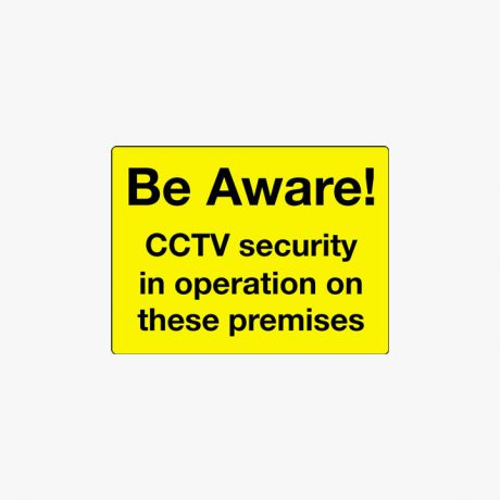 Aluminium 450x600mm Be Aware Cctv Security In Post Fitting Signs