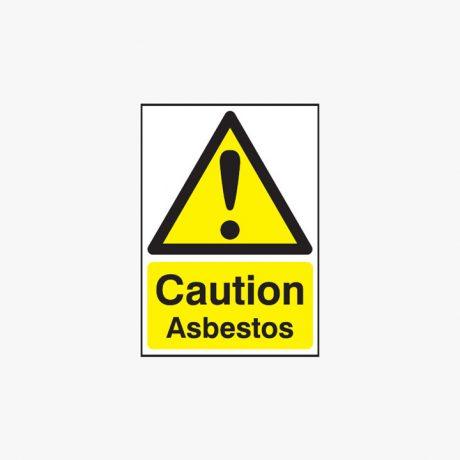 A1 Caution Asbestos Self Adhesive Plastic Signs
