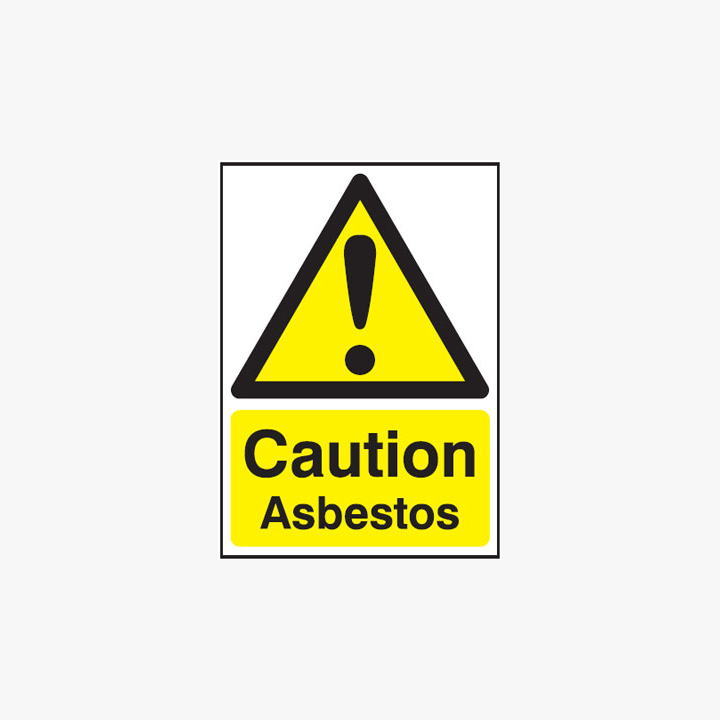 A1 Caution Asbestos Self Adhesive Plastic Signs