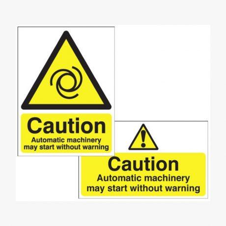 Caution Automatic Machinery May Start