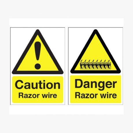 Caution / Danger Razor Wire