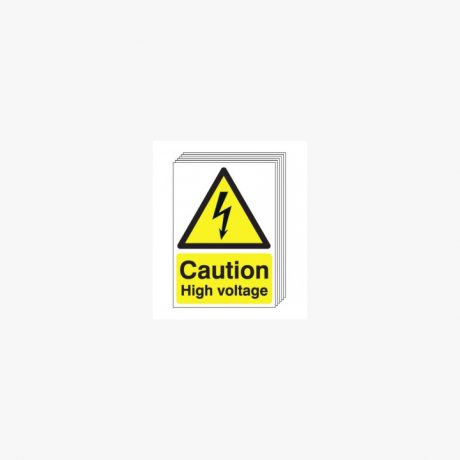 Caution High Voltage Signs