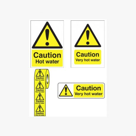 Caution Hot Water Signs