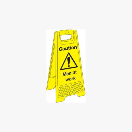 Caution Men At Work Signs Plastic a board 300mm x 680mm
