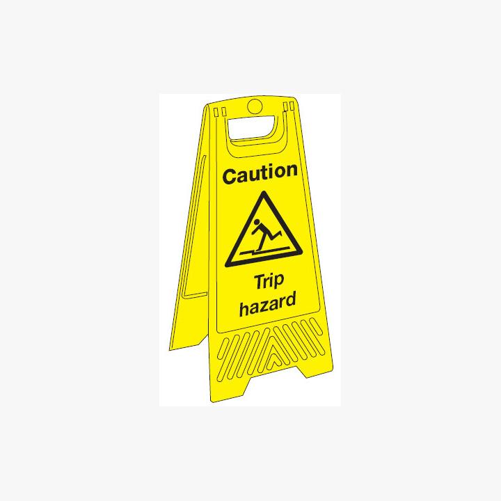 Caution Trip Hazard Plastic A-Board Sign 300 mm x 680 mm