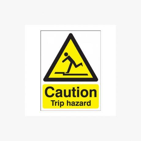 Caution Trip Hazard Signs, Rigid Plastic