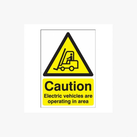 Caution Vehices Operating Signs