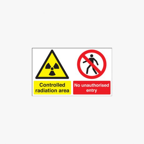 300x500mm Controlled Radiation Area No Plastic Signs