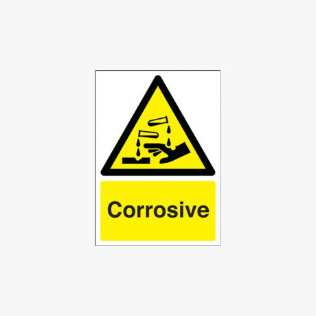 350x250mm Corrosive Plastic Signs