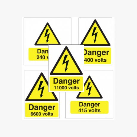 Danger High Voltage Signs