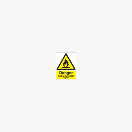 Danger Highly Flammable Liquid Self Adhesive Plastic 400x300mm Signs