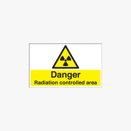 300x500mm Danger Radiation Controlled Area Plastic Signs