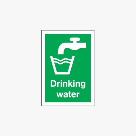 Drinking Water Signs Plastic A1