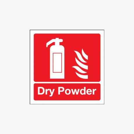 Dry Powder Extinguisher Night Glow Plastic 100x100mm Signs