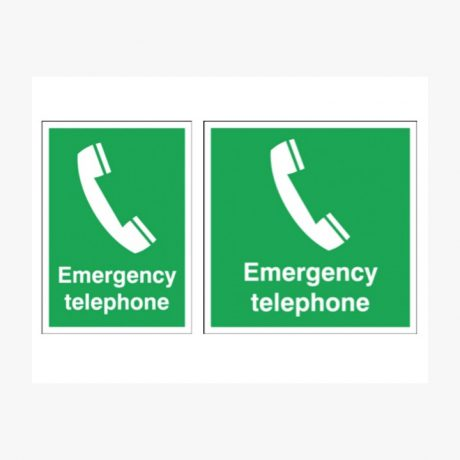 First Aid Emergency Telephone Signs