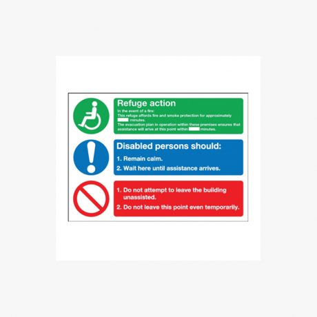 Evacuation for Disabled People Signs