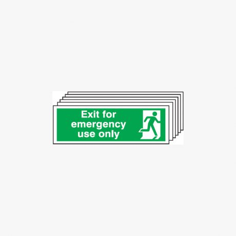 Exit For Emergency Use Only Multipack 6 Plastic 450x150mm Signs