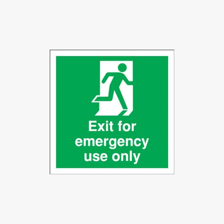 Exit For Emergency Use Only Self Adhesive Plastic 150x150mm Signs