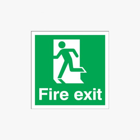 Exit Running Man Left Self Adhesive Plastic 150x150mm Signs