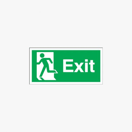 Exit (Running Man Symbol) Self Adhesive Plastic 600x300mm Signs