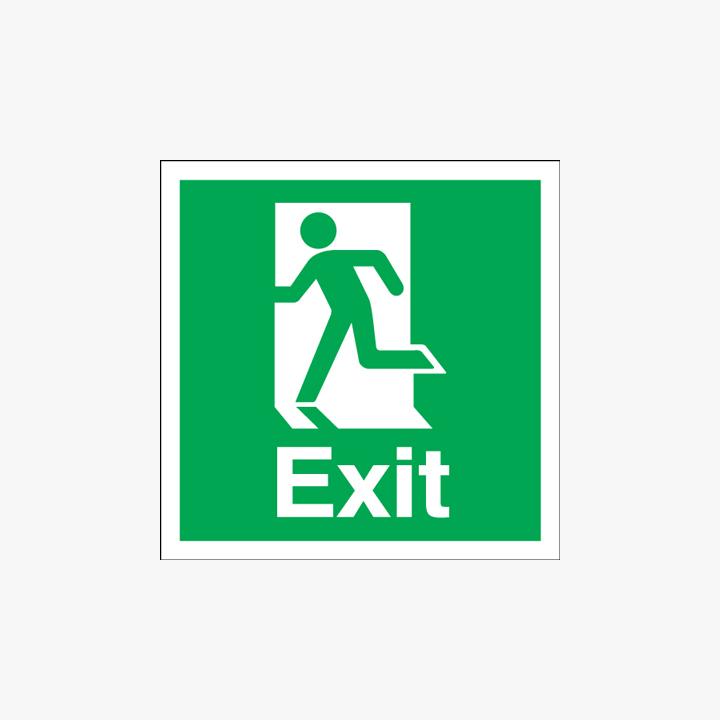 Exit (Running Man Symbol) Plastic 150x150mm Signs