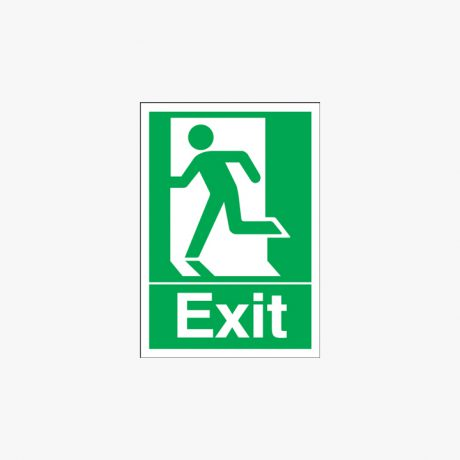 A1 Exit (Running Man Symbol) Self Adhesive Plastic Signs