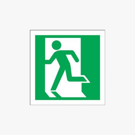 Exit (Running Man Symbol) Self Adhesive 150x150mm Signs