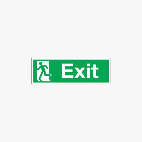 Exit (Symbol On Left) Plastic 450x150mm Signs