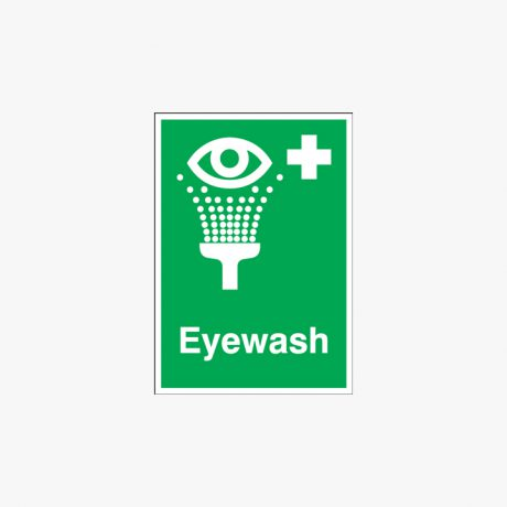 Eyewash Self Adhesive Plastic A1 Signs