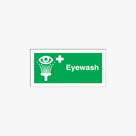 Eyewash Plastic 100x250mm Signs