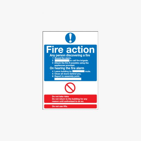 600x450mm Fire Action (Standard) Signs
