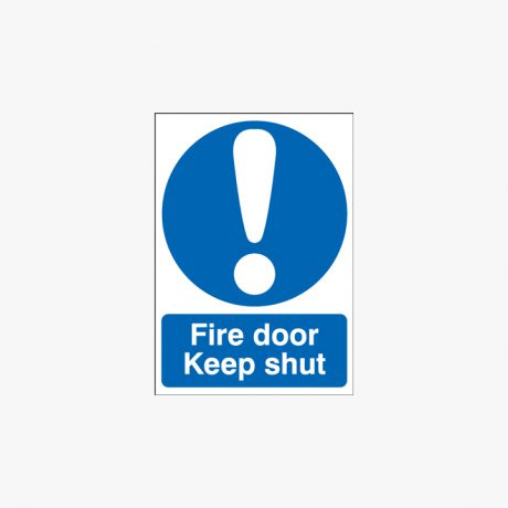 A1 Fire Door Keep Shut Plastic Signs