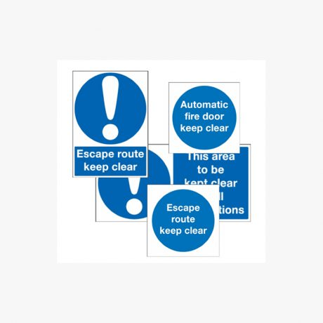 Fire Door and Escape Signs