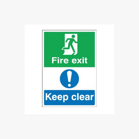 Fire Exit, Keep Clear Multi Signs