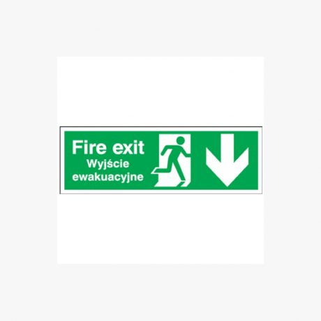 Fire Exit (Polish) Running Man Signs