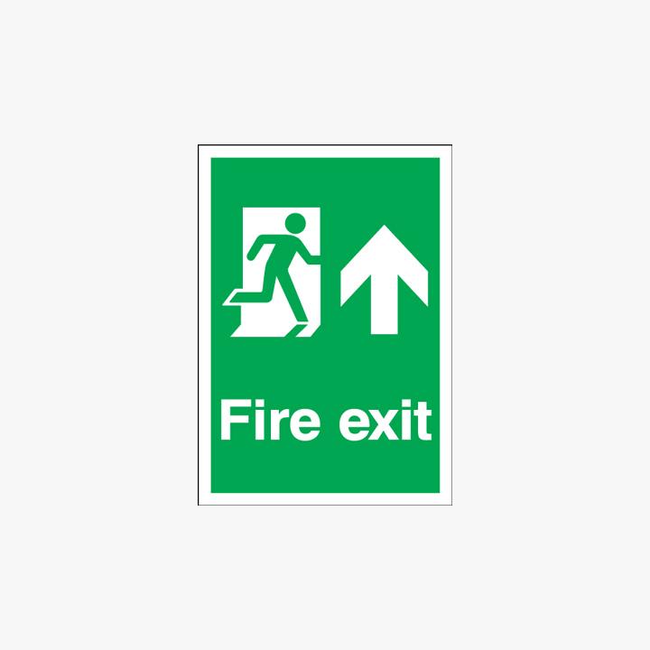A1 Fire Exit Running Man Arrow Up Signs