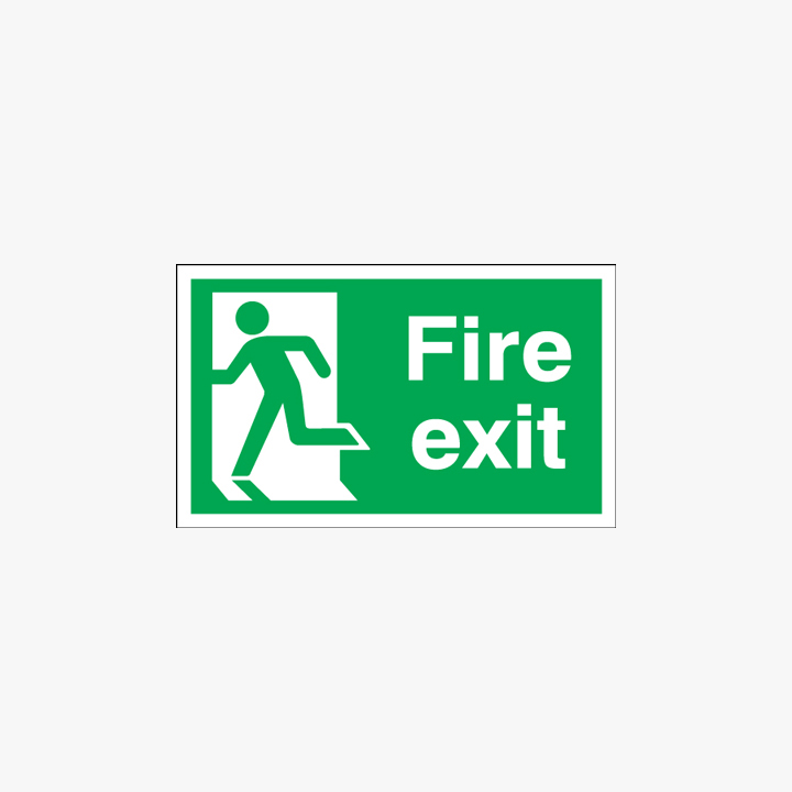 300x600mm Xtra-Glo Fire Exit (Running Man Left) Self Adhesive Signs