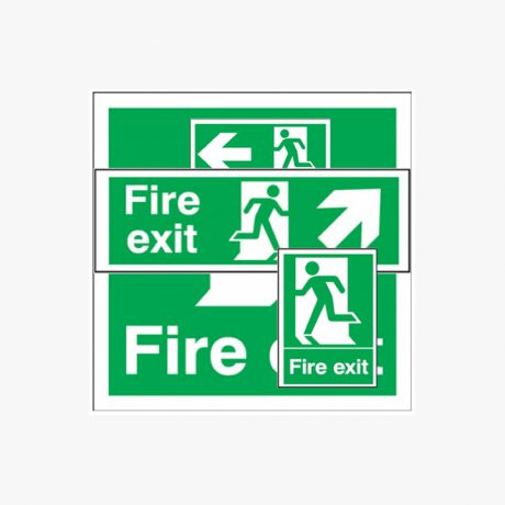 Fire Exit Running Man Signs