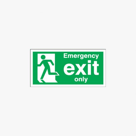 Fire Exit Running Signs ( No Arrow )