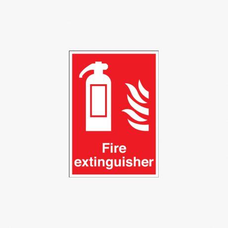Fire Extinguisher (Symbol & Flames) Plastic A1 Signs