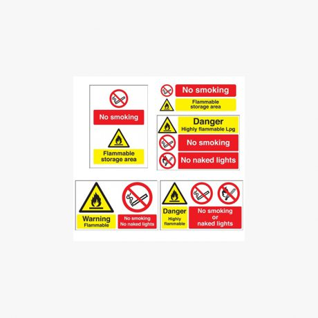 Flammable - No Smoking / Naked Light Signs