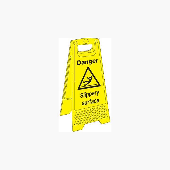 Plastic 680x300mm Danger Slippery Surface Signs